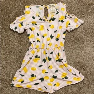 Girls Lemon Romper